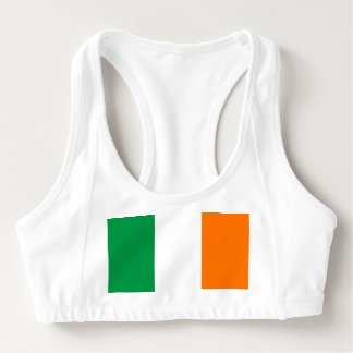 Women's Alo Sports Bra with flag of Ireland