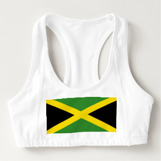 Women's Alo Sports Bra with flag of Jamaica