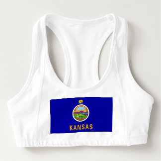 Women's Alo Sports Bra with flag of Kansas