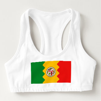 Women's Alo Sports Bra with flag of Los Angeles