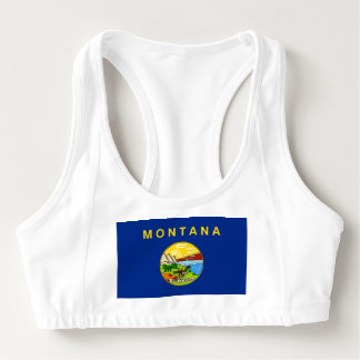 Women's Alo Sports Bra with flag of Montana