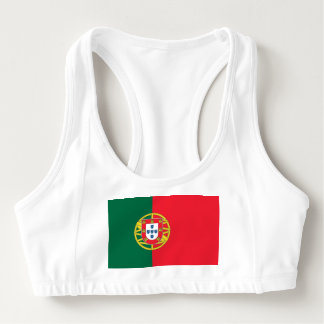 Women's Alo Sports Bra with flag of Portugal