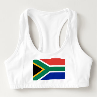 Women's Alo Sports Bra with flag of South Africa