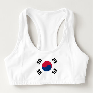 Women's Alo Sports Bra with flag of South Korea
