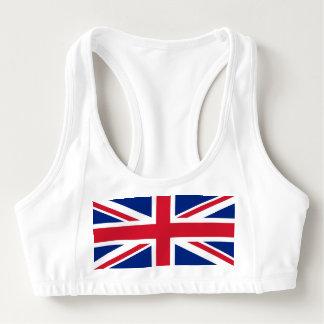 Women's Alo Sports Bra with flag of United Kingdom