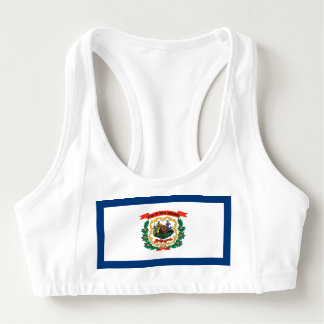 Women's Alo Sports Bra with flag of West Virginia