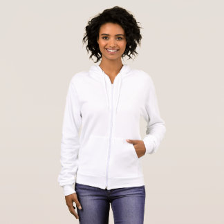 Women's American Apparel Fleece Zip Hoodie