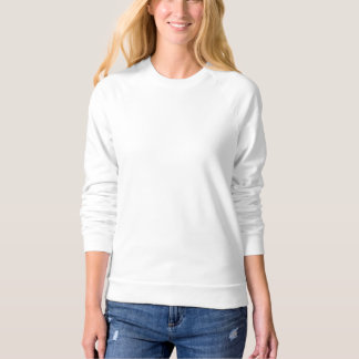 Women's American Apparel Raglan Sweatshirt WHITE