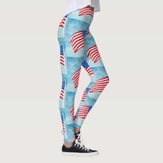 Women's American Flag Leggings