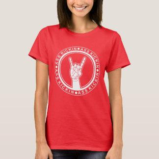 """Women's """"Ass-Kickin"""" Rock-On Basic T-Shirt"""
