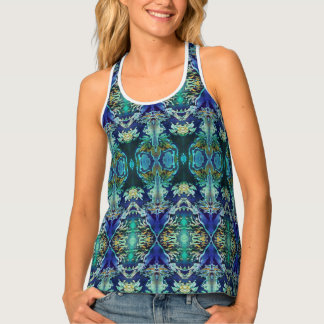 Women's Azuraz Candle Racerback Tank Top