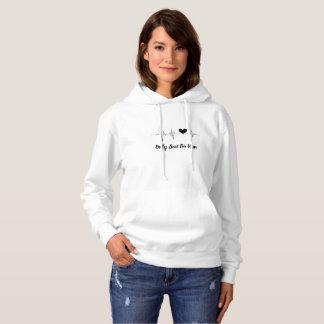 Women's Basic Heartbeat Couple Hooded Sweatshirt