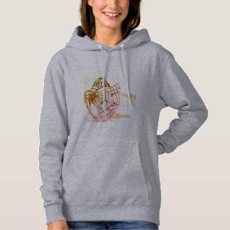 Women's basic hoodie sweatshirt,grey,Halloween