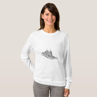 Women's Basic Long Sleeve T-Shirt custom drawn