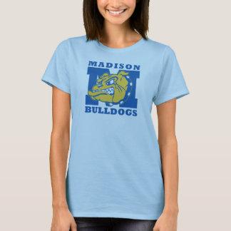 Womens Basic Madison Bulldogs t-shirt - Light Blue