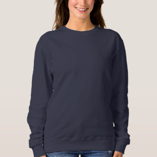 Women's Basic Sweatshirt NAVY BLUE DIY Template