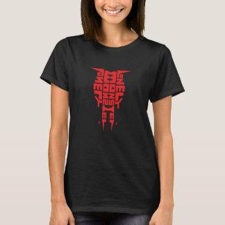 Women's Basic T-Shirt, Black with Red Totem Logo T-Shirt