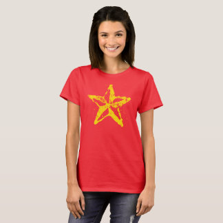 Women's Basic T-Shirt Used Red Star