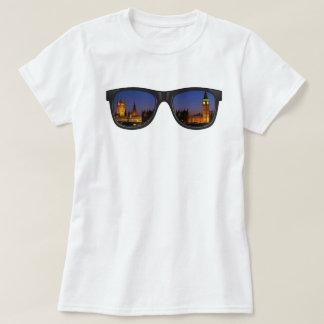 Women's Basic T-Shirt, White, London view T-Shirt