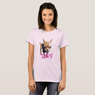 Women's Basic T-Shirt with Cartoon Toby