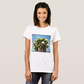 Women's Basic Tee Shirt - Spring Saguaro Blooms