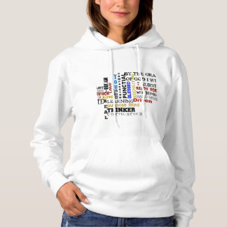 WOMEN'S BASIC WHITE HOODED SWEAR SHIRT
