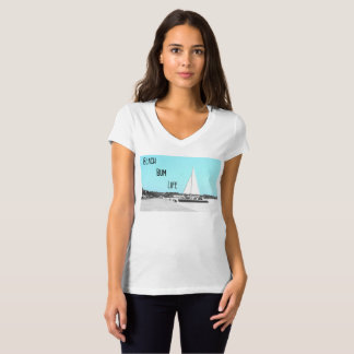 Women's Beach Bum Life Jersey V-Neck T-Shirt