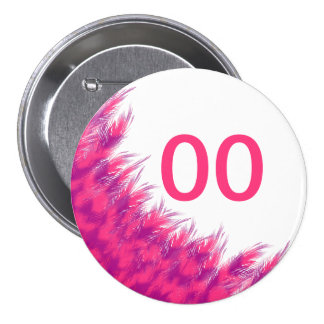 Women's Beautiful Birthday Pink Purple Feather Age 7.5 Cm Round Badge