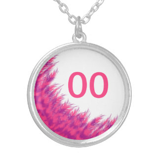 Women's Beautiful Birthday Pink Purple Feather Age Silver Plated Necklace