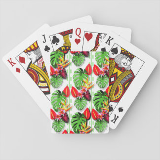 Women's Beautiful Trendy Tropical Leaf Flower Playing Cards