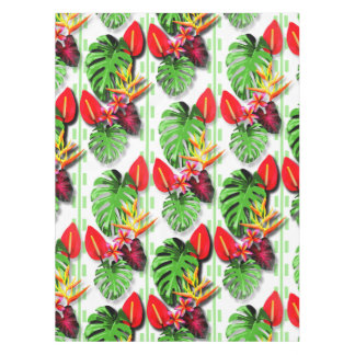 Women's Beautiful Trendy Tropical Leaf Flower Tablecloth