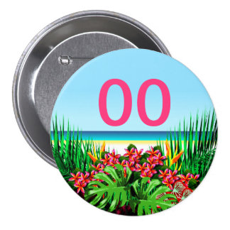 Women's Beautiful Tropical 21st 30th 40th Birthday 7.5 Cm Round Badge