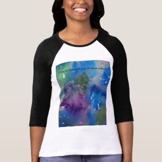 Women's Bela & Canvas 3/4 sleeve T-Shirt w/design