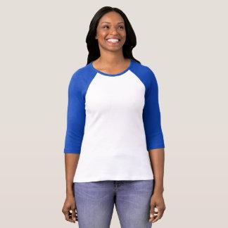 Women's Bella+Canvas 3/4 Sleeve Raglan T-Shirt Cut