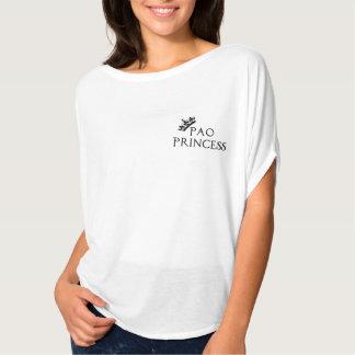 Women's Bella Canvas Flowy Circle Top, White PAO T-Shirt