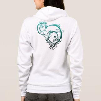 Women's Bella Fleece Raglan Zip Graphics Hoodie