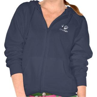 Women's Bella Fleece Raglan Zip Hoodie, Navy Hoodies