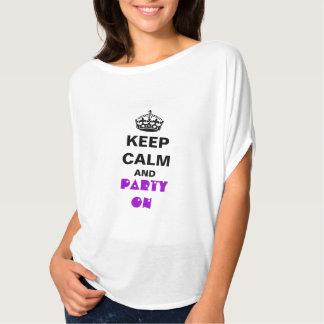 Women's Bella Flowy Circle Top White KEEP CALM Tshirt