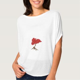 Women's Bella Flowy Handpainted Bonsai T-Shirt