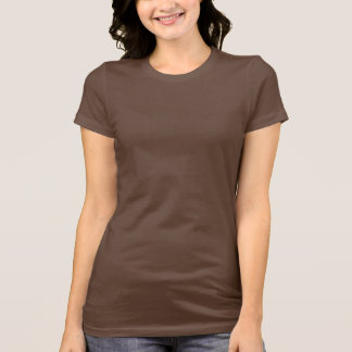 Women's Bella Jersey T-Shirt Chocolate Brown