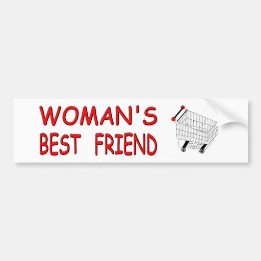 WOMEN'S BEST FRIEND BUMPER STICKER