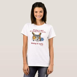 Women's Birding Reality T -- Great Horned Owl T-Shirt