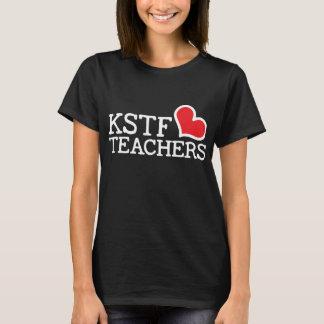 Women's Black Basic T-Shirt - KSTF Heart: Center