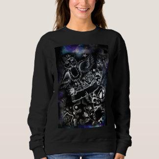 womens black graphic sweater
