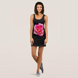 "Women's Black Jersey ""Rose"" Tank Dress"