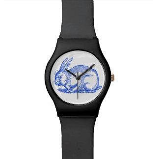 Women's Blue Bunny Watch (Black)
