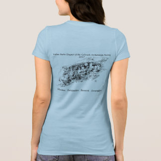 Women's Blue IPCAS 2017 Cliff Dwelling T-Shirt