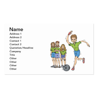 Womens Bowling Team Pack Of Standard Business Cards