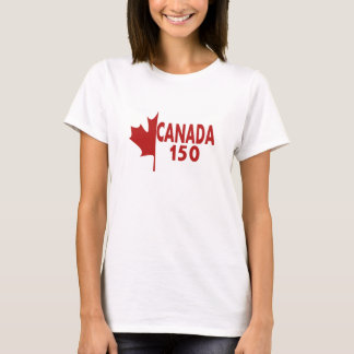 Women's Canada 150 T-Shirt (white on red)