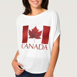 Women's Canada Flag Shirts Lady's Souvenir Shirt